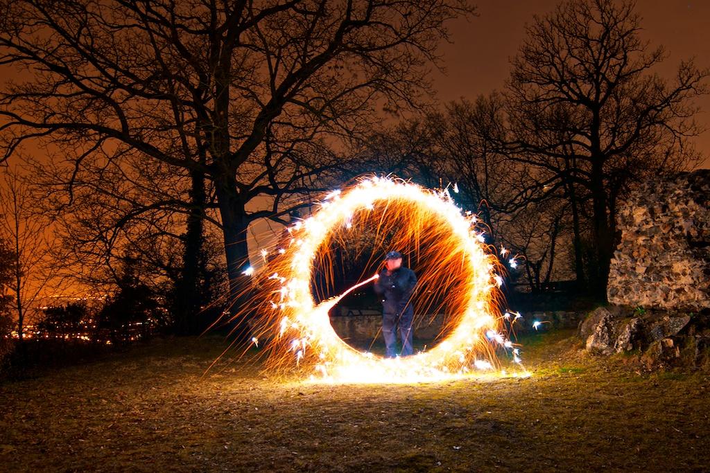 Light Art Performance Photography